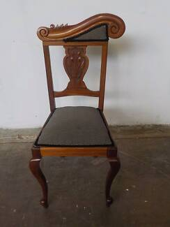 B23061 Lovely Carved Mahogany Dining Chair Mount Barker Mount Barker Area Preview