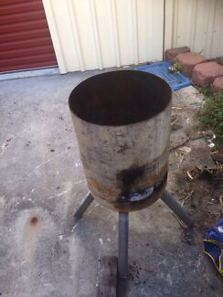 Fire pit made from large gas bottle.  Loganholme Logan Area Preview