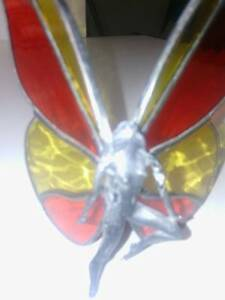 Lead Figurine - Butterfly Girl - red, yellow, pale green glass Bonython Tuggeranong Preview
