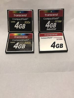 4 Transcend CompactFlash  4GBx4 Total 16GB CF Cards  used