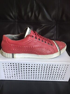 Alexander McQueen Puma Scarred Street Rosso Trainers  UK 8