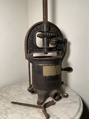 Antique Enterprise Mfg. Co. Phila. Pa Sausage Stuffer Fruit Press