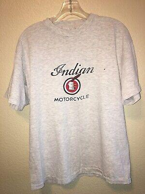 vintage indian motorcycle T-shirt Size Large See Description
