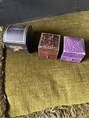 3 Vintage Ring / Jewellery Boxes
