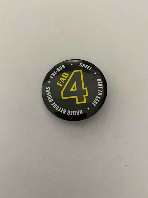 """Waffle House Pin/Button """"Fab 4"""" of Serving"""