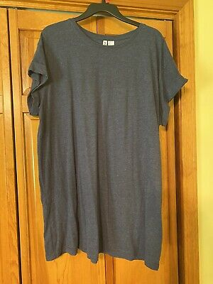 Divided Womens H&M Basic Tee - Navy - Size Large