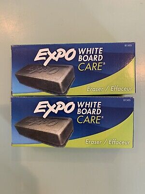 2 Pack White Board Care Expo Dry Erase Eraser - 81505 - Brand New In Box