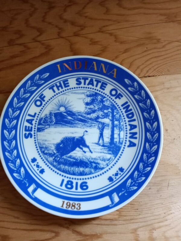 Seal Of The State Of Indiana Plate 1816 Number 81 Hoosier Heritage Collection