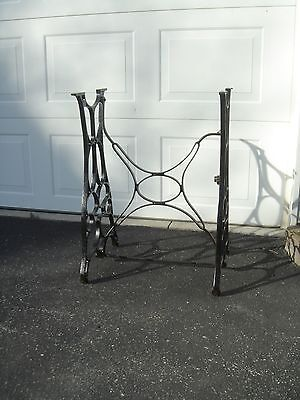 Antique Industrial Cast Iron Table Legs Sewing Machine Base