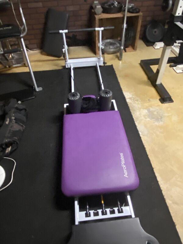 AERO PILATES 55-5004  5 CORD Purple REFORMER  W PULL UP BAR
