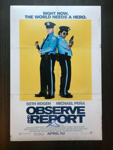 * SETH ROGEN * signed autographed 12x18 poster photo * OBSERVE AND REPORT * 1