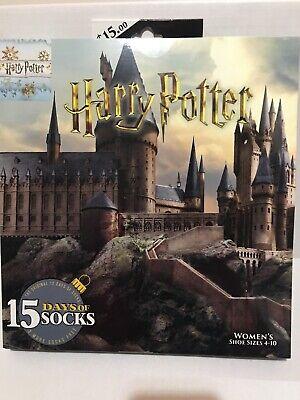 Harry Potter Advent Sock Calendar 15 Days of Socks 2019 Women's Hogwarts 4-10