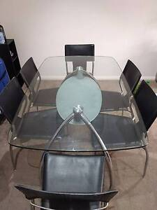 Glass dinning table Lane Cove North Lane Cove Area Preview