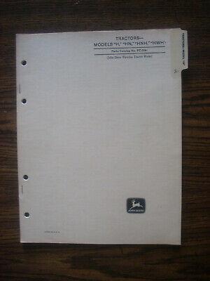 Jd John Deere H Series Parts Manual