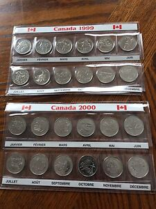 1999 and 2000 25 cent collection