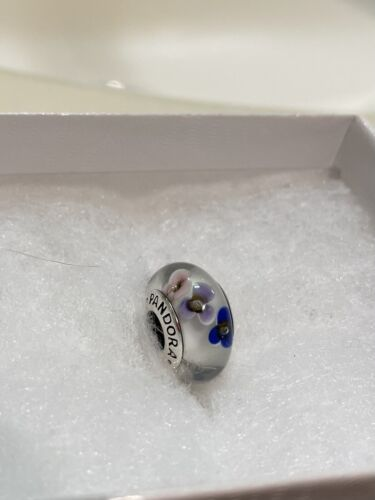 Pandora Purple And White Flower Bead. NEW  - $12.14