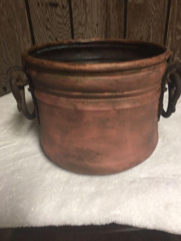 Antique Copper Couldon Pot