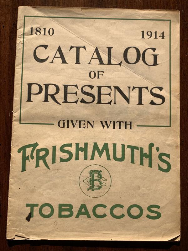 1914 Frishmuth Tobacco Premium Catalog Tags Philadelphia Lovell-Buffington KY