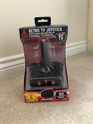 Atari Retro TV Joystick With 50 Classic Games Built In Plug In & Play