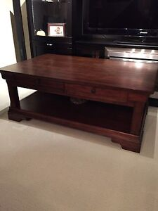 Coffee Table and End Tables (x2)