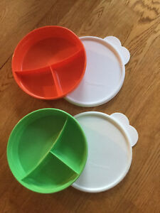 Tupperware Divided Dish with Covers