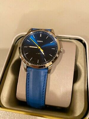 Fossil Watch Blue Leather FS5465 NWT NEW