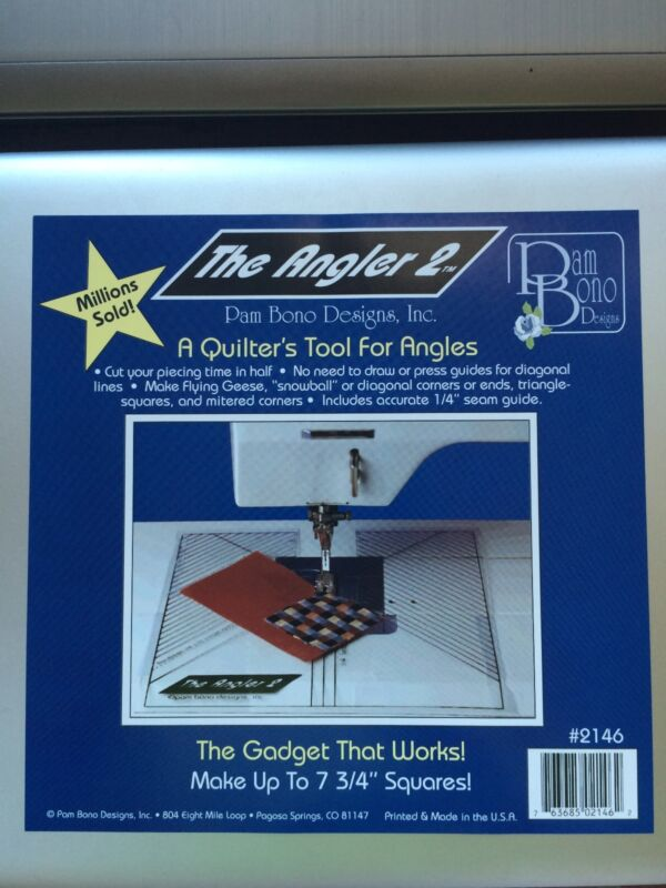 """The Angler 2"" A Quilter't Tool for Anglers 7 3/4"" Squares by Pam Bono Designs"