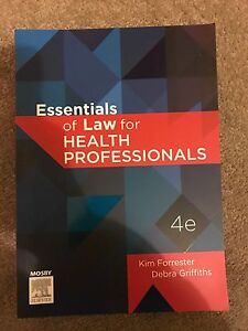 Essentials of law for health professionals Hove Holdfast Bay Preview
