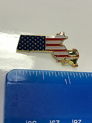 Massachusetts State Lapel Pin MA US Flag American USA Patriot Politics