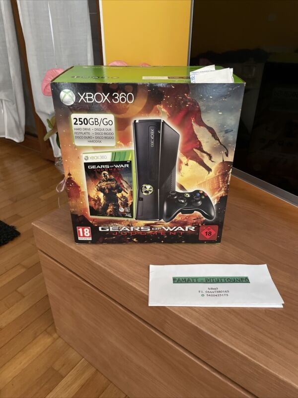 CONSOLE+XBOX+360+LIMITED+EDITION+GEARS+OF+WAR+JUDGMENT+NEW+SEALED+PAL+ITA+250GB