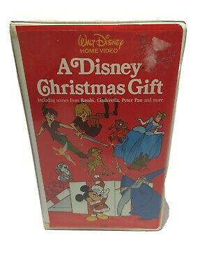 A Disney Christmas Gift VHS 1982 Early Walt Disney Home Video Clamshell