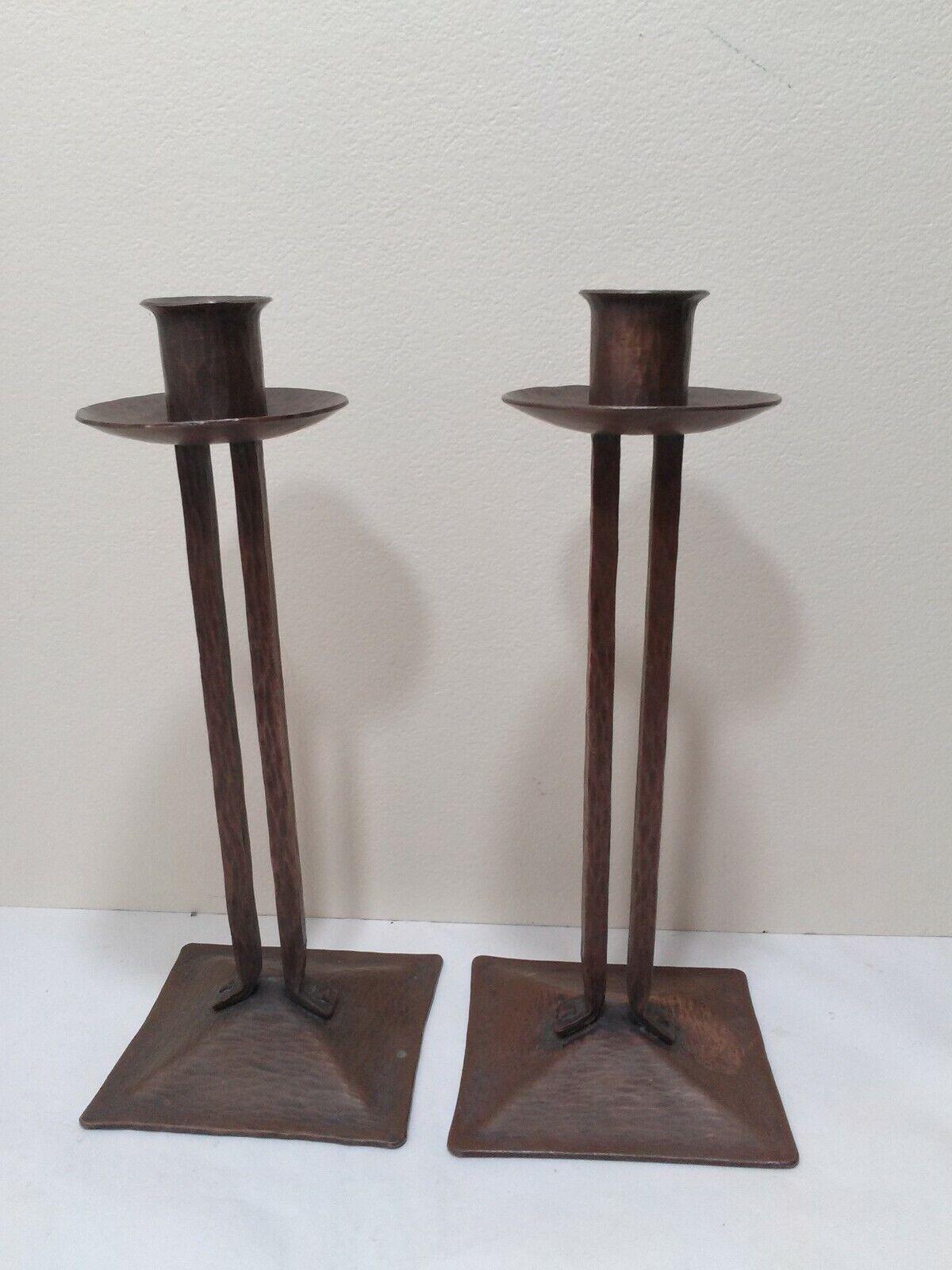 Arts And Crafts ULTRA RARE KARL KIPP ROYCROFT Copper KK Princess Sticks PATINA  - $275.00