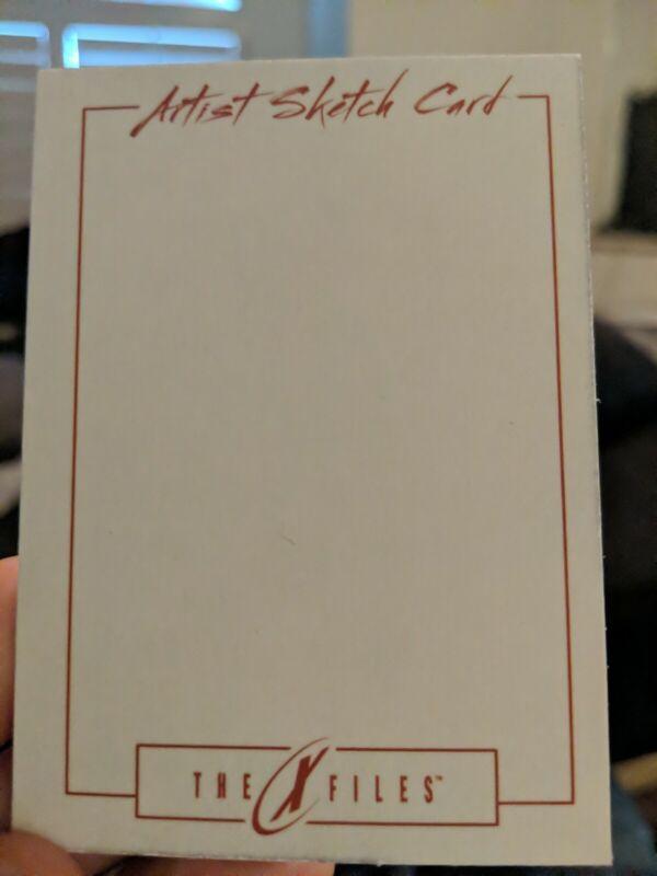X Files Blank Sketch Card IDW LIMITED FOX