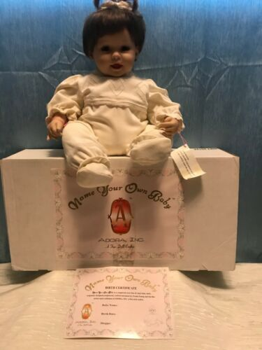 "20"" Adora Baby Doll Name Your Own Baby Girl  BrunetteW/ Box & COA BMY20124"