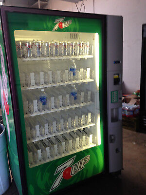 Dixie Narco 5800 Glass Front Soda Vending Machine With Robotic Arm