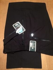 carabou action trousers (38 long) black RRP £29.99 zips pockets work security