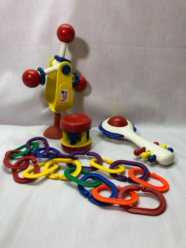Vintage Discovery Toys, Boomering Links, Rattler, Activity Toys