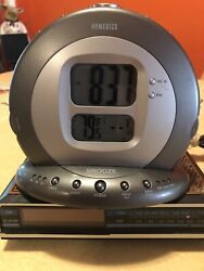 Homedics SS-5000 Sound Spa Projection Alarm Clock Radio 6 Nature Sleep Sounds
