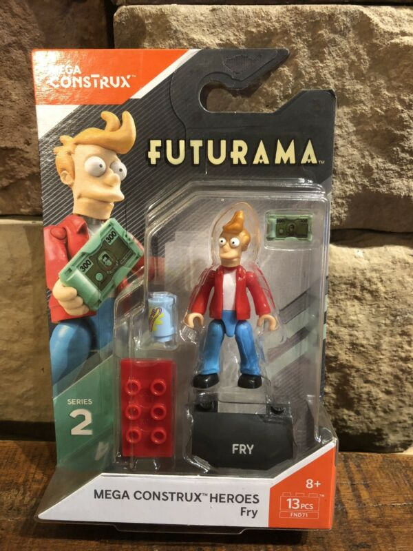 Mega Construx Heroes Series 2 Futurama Fry Mini Figure