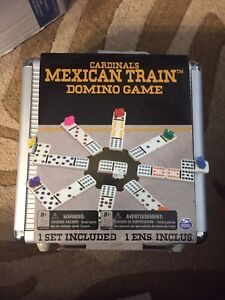 Brand New Mexican train dominoes with case