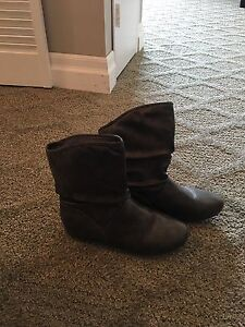 Synthetic leather ankle boots size 8