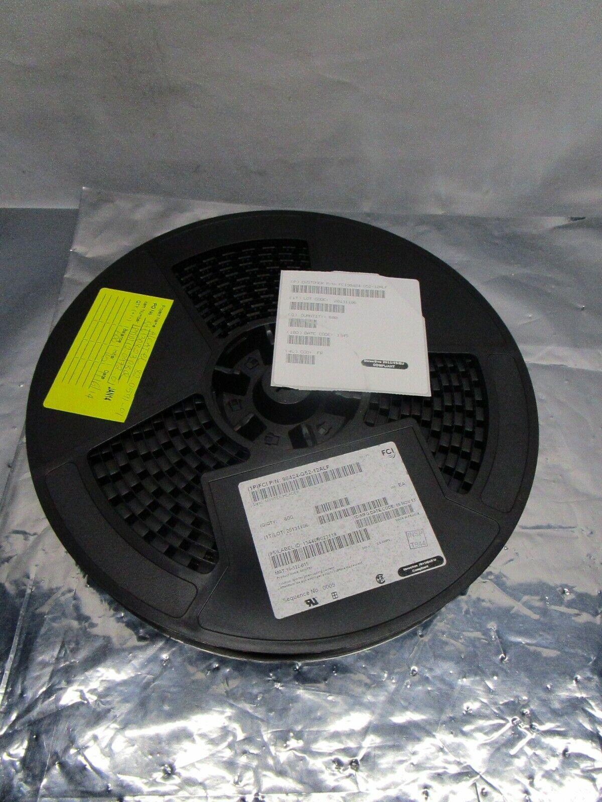 1 Lot of 600 Amphenol ICC 98424-G52-12ALF Minitek Header, 102710