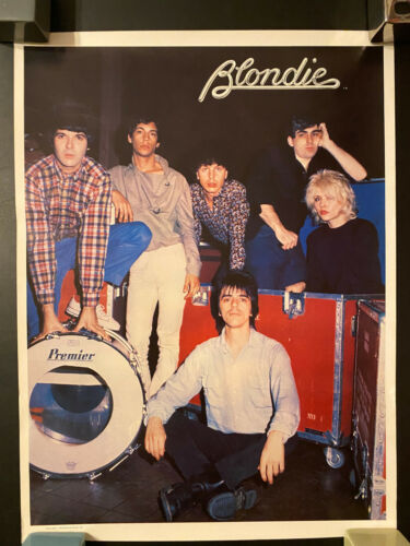 1979 Blondie rolled poster Plastic Letters era Parallel Lines logo #1 near mint