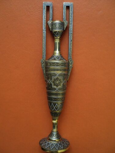 antique toledo luxury damascene arabian mudéjar style in gold silver genuine