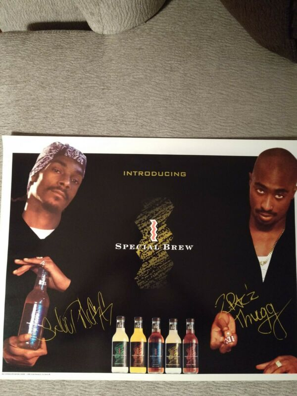 2Pac & Snoop Dogg St.Ides Special Brew Ad Poster rare 1996 90