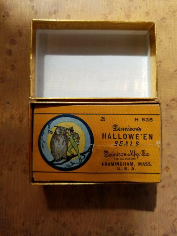 Vintage Dennison Halloween Sticker Gummed Seals  Original Box