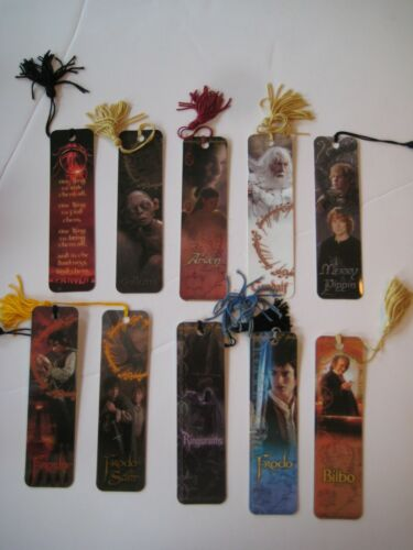 10 Lot~Lord of the Rings Bookmarks~LOTR~Arwen~Gandalf~Wraiths~Gollum~Tassle~MORE