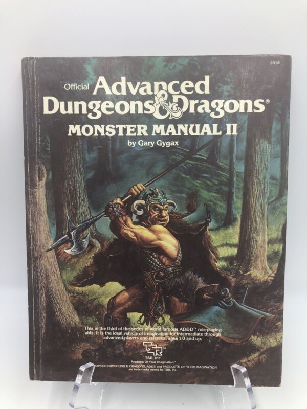 Advanced dungeons and dragons Monster Manual II Gary Gygax 1983 TSR