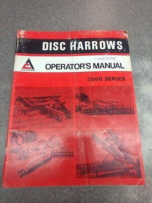 Allis Chalmers 3000 Series Disc Harrow Operators Manual 72087195