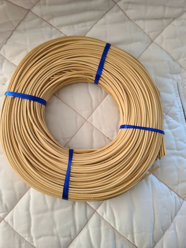 1 Round Reed #4 2.75 mm 1# Coil for Weaving Bound Unused Basket, Chair, Caning